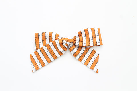 BOO Stripe in Orange - Oversized Hand-Tied