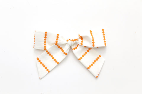 Orange Diamond Stripe - Oversized Hand-Tied