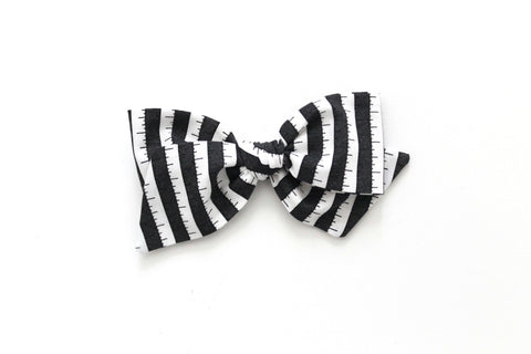 BOO Stripe in Black - Oversized Knot Bow