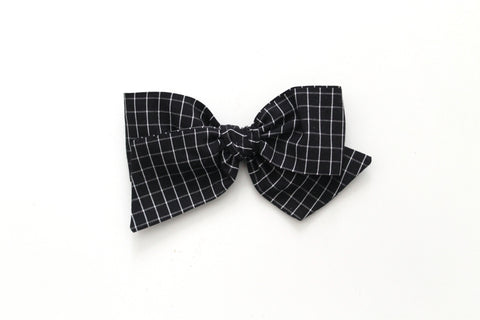 Haunted Grid - Oversized Knot Bow