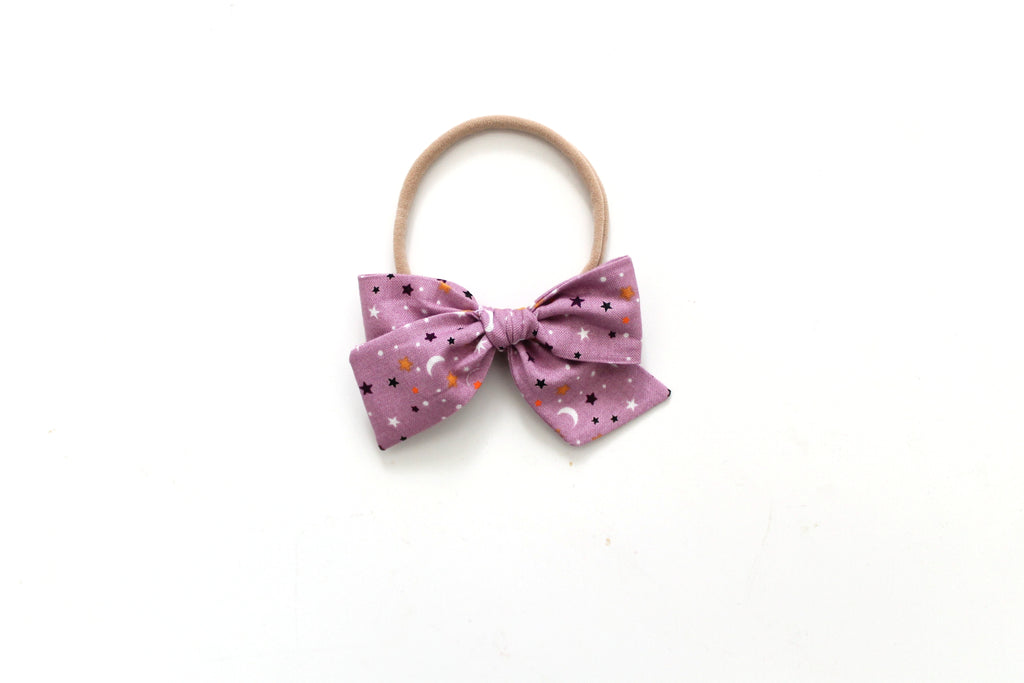 Star Scatter in Lavender - Mini Knot Bow