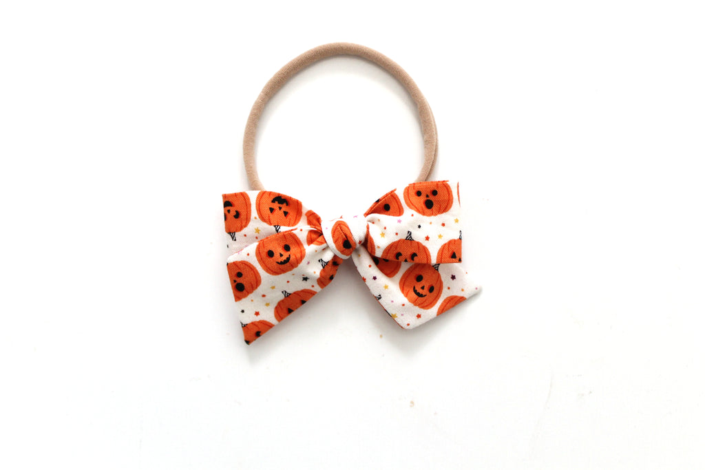 Pumpkins on Cream - Mini Knot Bow