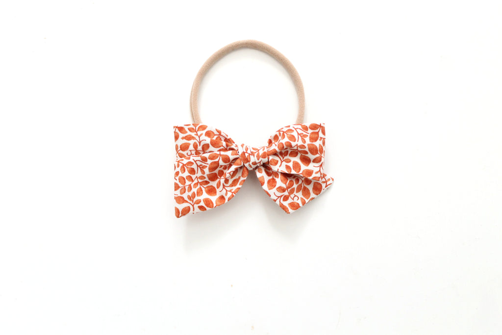 Vines in Orange - Mini Knot Bow
