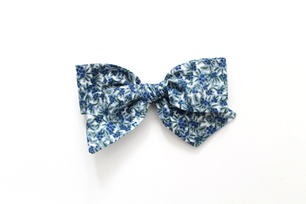 Blueberries in Blue - Oversized Knot Bow