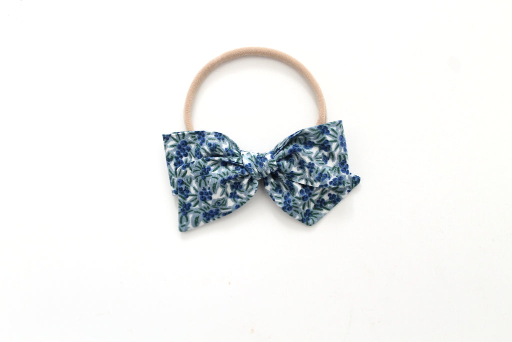 Blueberries in Blue - Mini Knot Bow