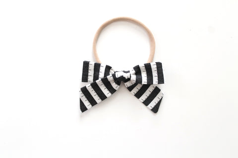 BOO Stripe in Black - Mini Hand-Tied