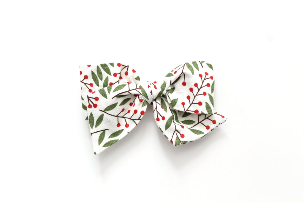 Holly Berry - Holiday - Oversized Knot Bow