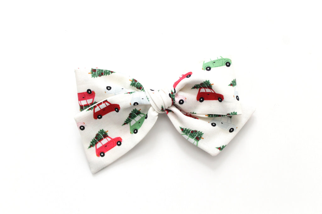 Christmas Cars - Holiday - Oversized Knot Bow