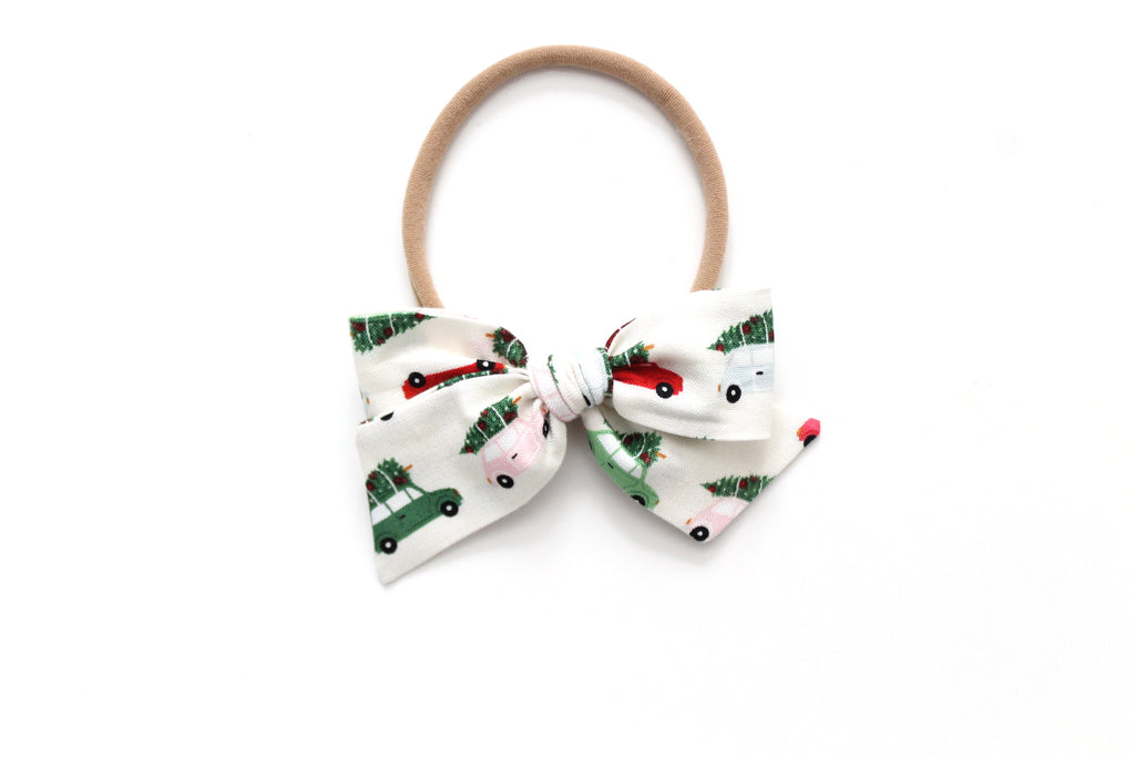 Christmas Cars - Holiday - Mini Knot Bow