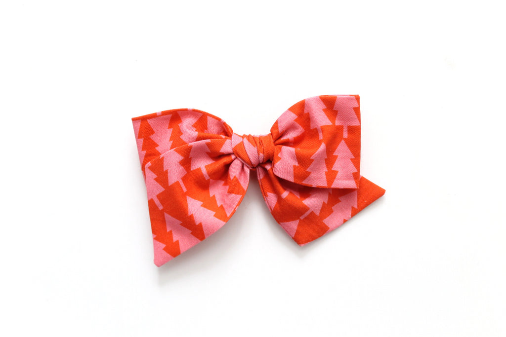 Pink and Coral Tree's - Holiday - Oversized Knot Bow