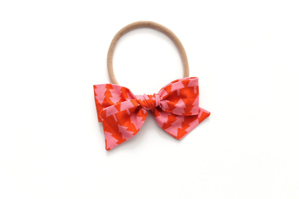 Pink/Coral Tree's - Holiday - Mini Knot Bow