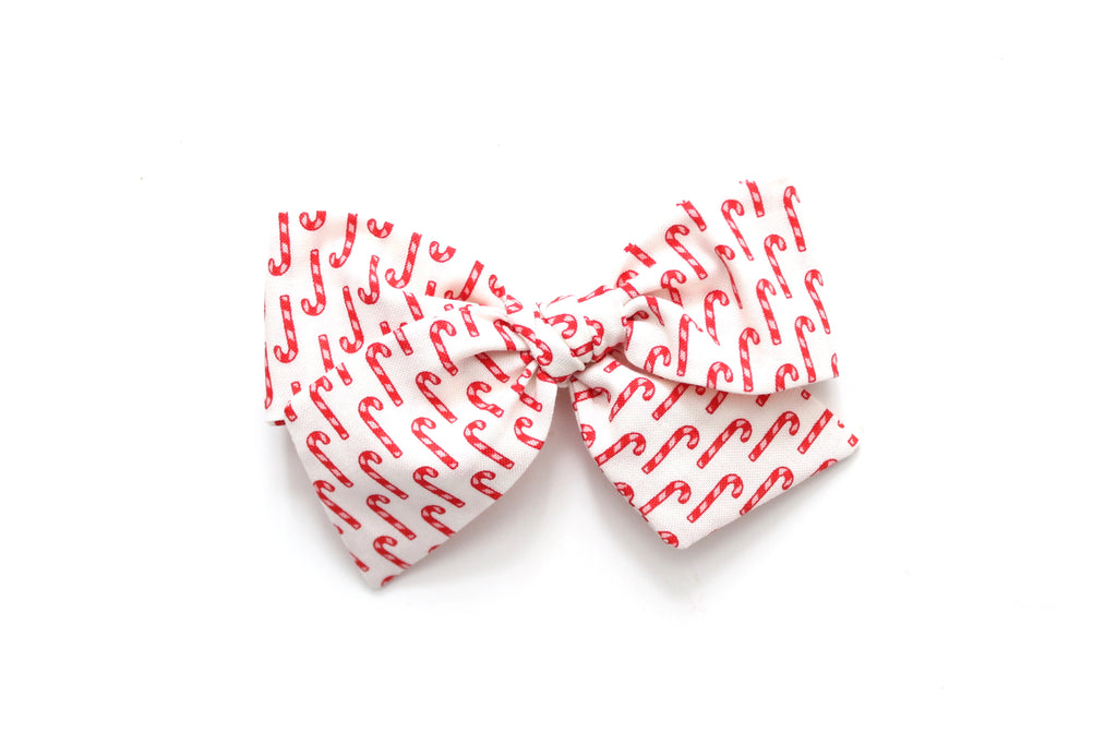 Candy Cane - Holiday - Oversized Knot Bow