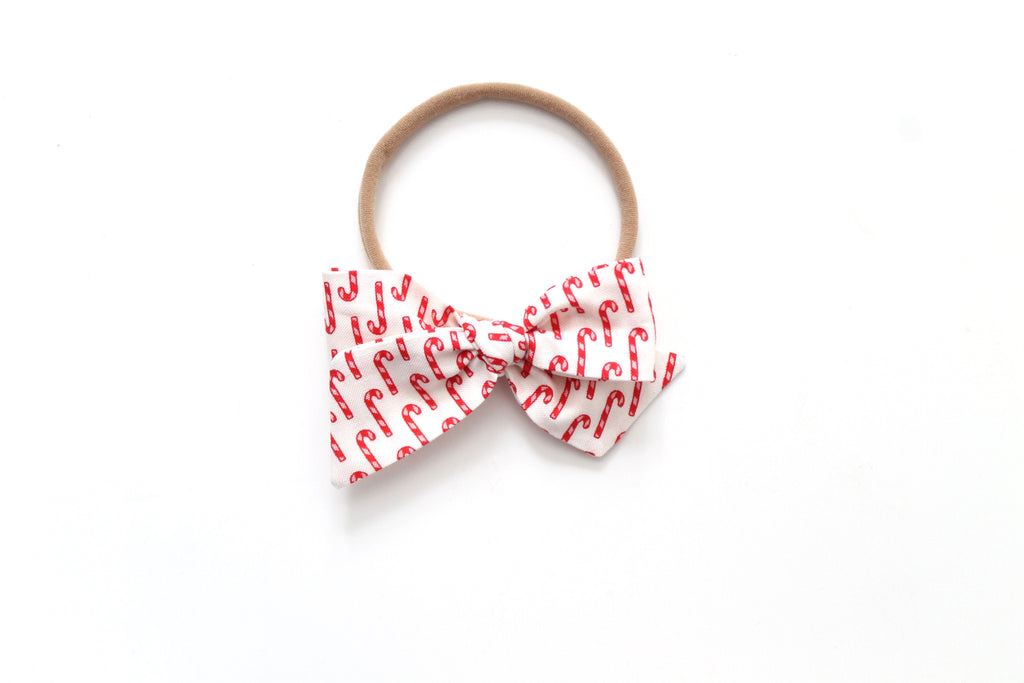 Candy Cane - Holiday - Mini Knot Bow