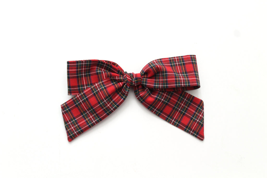 Red Tartan - Holiday - Oversized Hand-Tied