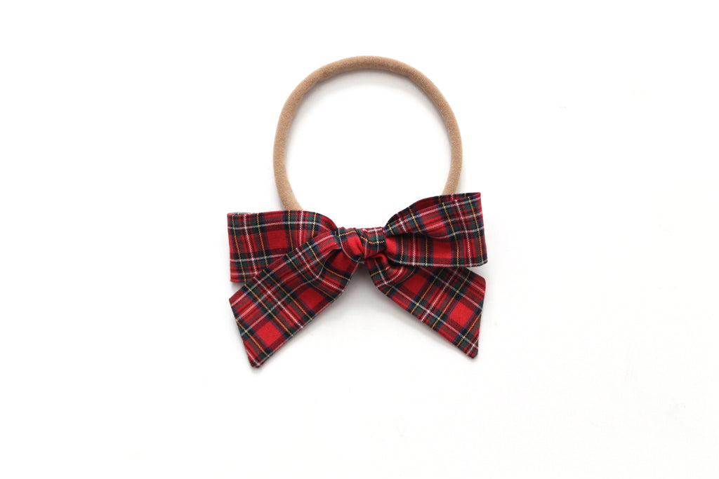 Red Tartan - Holiday - Mini Hand-Tied