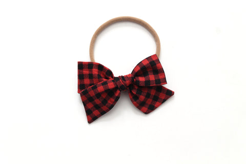 Buffalo Plaid - Holiday - Mini Knot Bow