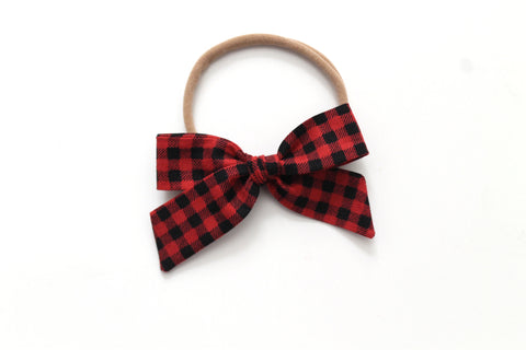 Buffalo Plaid - Holiday - Mini Hand-Tied