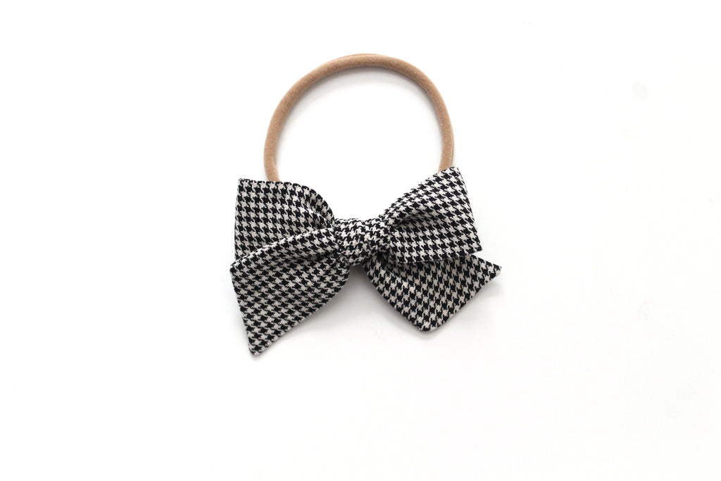 Houndstooth - Holiday - Mini Knot Bow