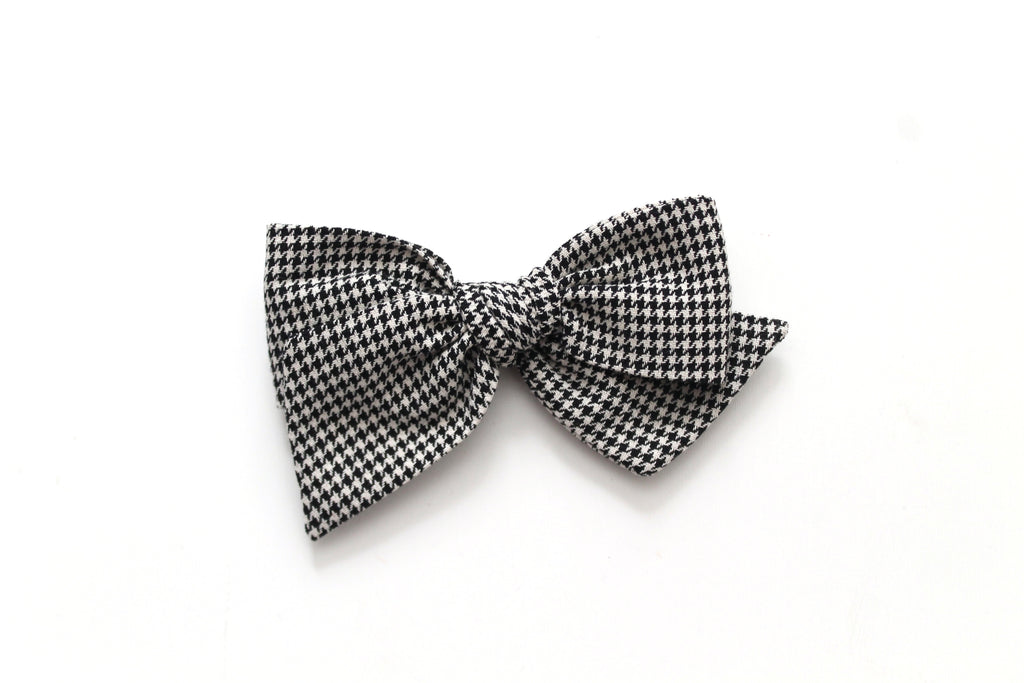 Houndstooth - Holiday - Oversized Knot Bow