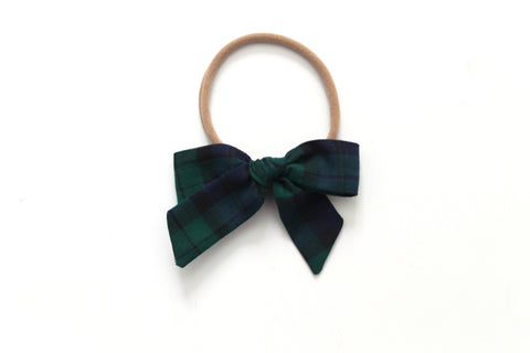 Blue/Green Tartan - Holiday - Mini Hand-Tied