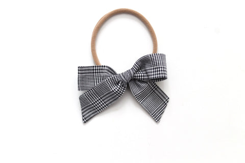 Black Micro Plaid - Holiday - Mini Hand-Tied
