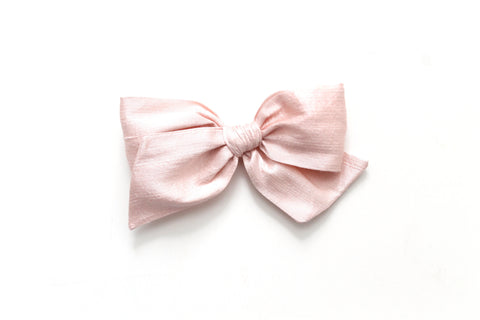 Blush Dupioni Silk - Holiday - Oversized Knot Bow