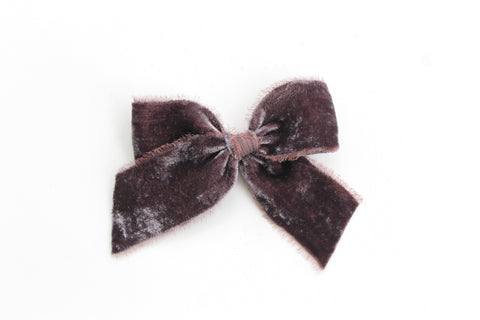 Sugarplum - Holiday - Raw Edge Silk Velvet Bow