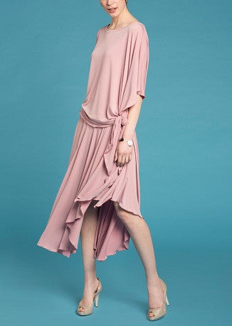 Waterfall Skirt- Tea Pink