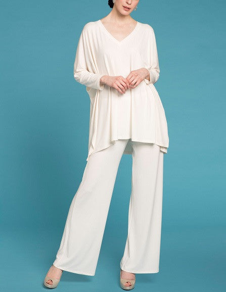 Essential V Neck Tunic - Ivory