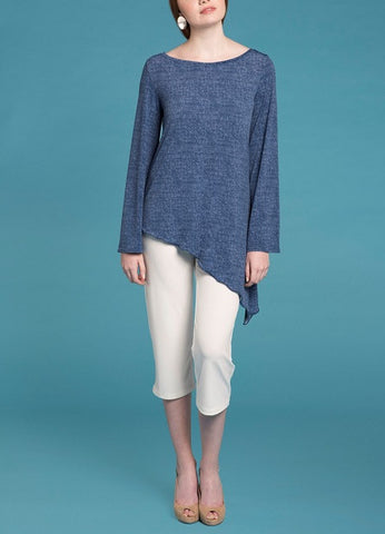 Point Full Sleeve Top - Denim