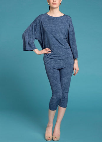 Studio tunic - Denim Blue
