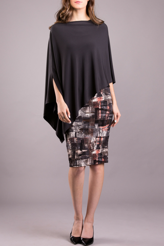Pencil Skirt - Multi Grey Print