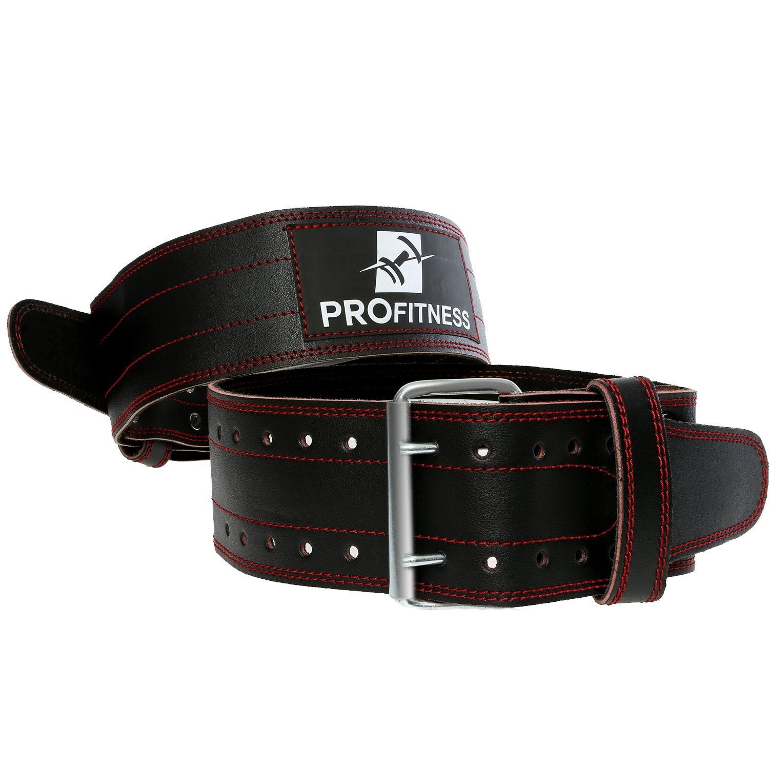 4-inch Wide Genuine Leather Workout Belt - TotalProFitness