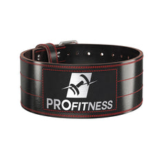 4-inch Wide Genuine Leather Weightlifting Belt - TotalProFitness