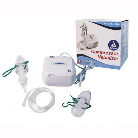 Dynarex Compact Nebulizer Compressor with Adult and Pediatric Mask