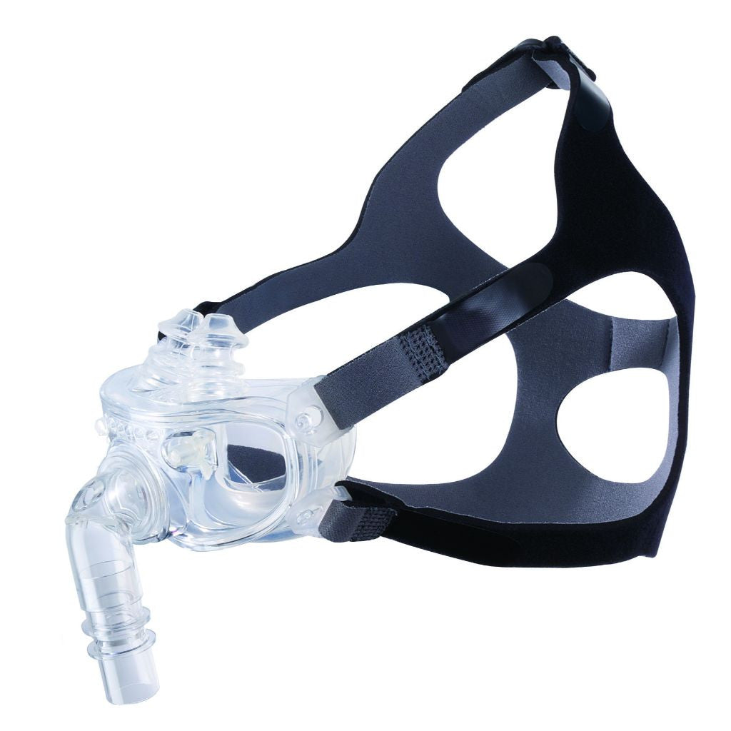 Hybrid CPAP Mask with Dual-Airway Interface, Adjustable All Sizes Kit