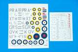 Eduard 82151 1/48 scale Spitfire Mk.1a Profipack Edition decal sheet - BlackMike Models