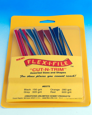 Flex-i-File 'Cut-n-Trim' Assorted Sanding Stick set (16 pieces) - BlackMike Models