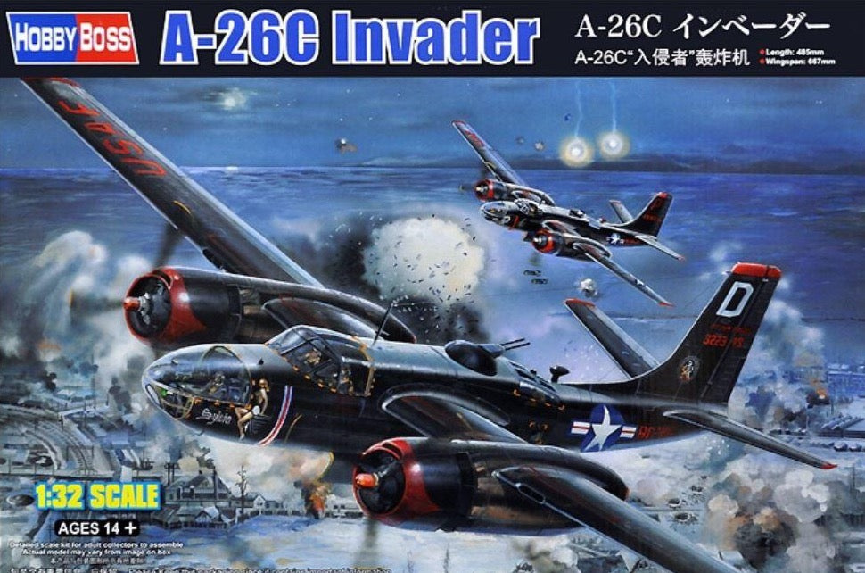 HobbyBoss 83214 1/32 scale A-26C Invader - BlackMike Models