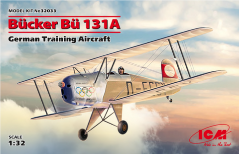 ICM 32033 1/32 Bücker Bü 131A German Training Aircraft - BlackMike Models