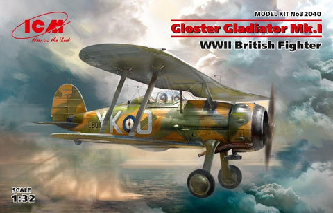 ICM 32040 1/32 Gloster Gladiator Mk.I British Fighter - BlackMike Models