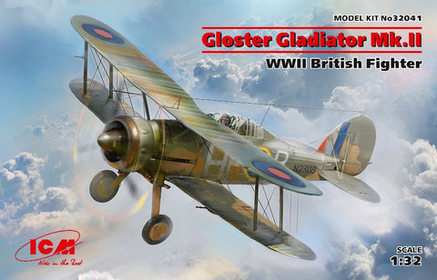 ICM 32041 1/32 Gloster Gladiator Mk.II British Fighter - BlackMike Models