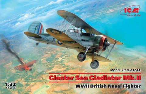 ICM 32042 1/32 Gloster Sea Gladiator Mk.II British Naval Fighter - BlackMike Models