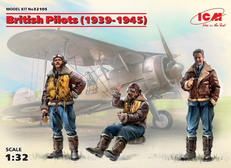 ICM 32105 1/32 scale British Pilots 1939-1945 plastic kit