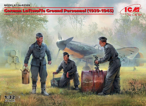 ICM 32101 1/32 scale WW2 German Luftwaffe Ground Personnel 1939-1945 plastic kit