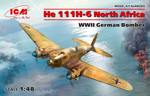 ICM 48265 1/48 Heinkel He 111H-6 North Africa WW2 German Bomber - BlackMike Models