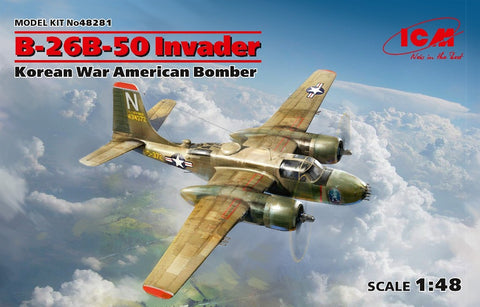 ICM 48281 1/48 B-26B-50 Invader Korean War American Bomber - BlackMike Models