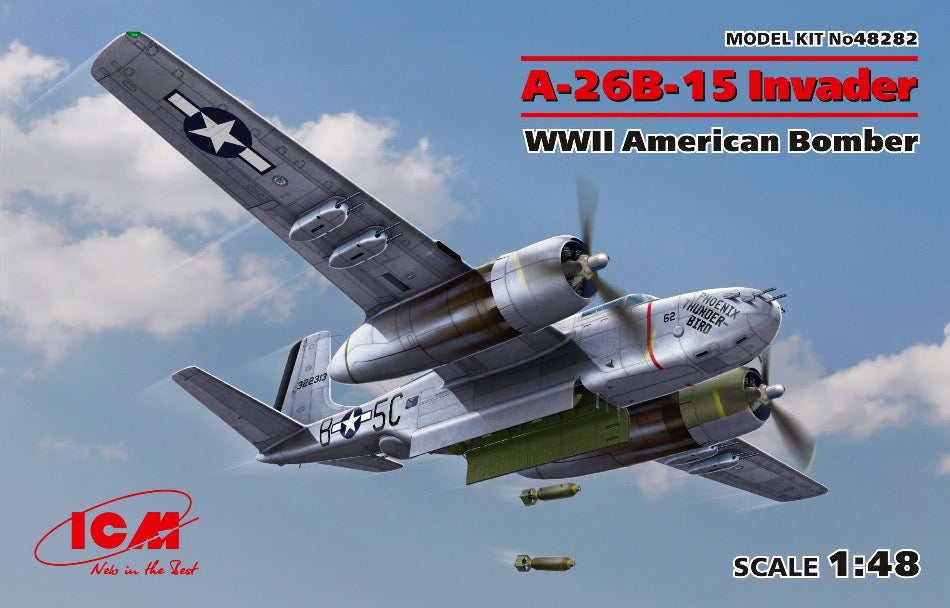 ICM 48282 1/48 A-26B-15 Invader WW2 American Bomber - BlackMike Models