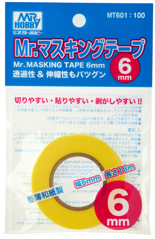 Mr Masking Tape 6mm x 18m pack - BlackMike Models