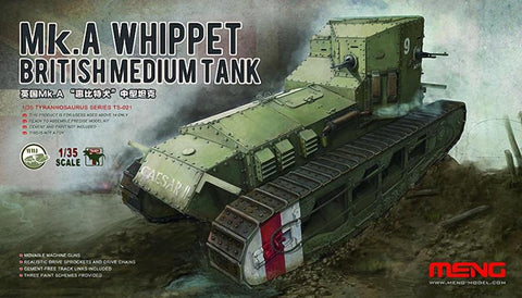 Meng TS-021 1/35 British Medium Tank Mk A Whippet - BlackMike Models